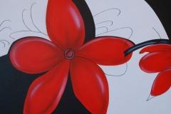 Bloemen op doek 50x102 cm