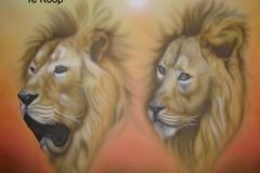 Leeuwen op Doek 50x60 cm