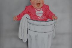 Baby op Doek 50x60 cm