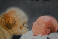 Jurre en Babs doek 50x60 cm