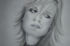 Ilse de Lange op papier 50x60 cm
